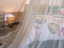 Glamping Interior-Romantic-space-king-size-pocket-sprung